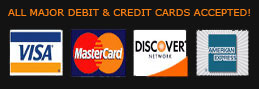 major credit cards and debit cards are accepted here